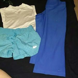 3 pc bundle Nike sweats top shorts